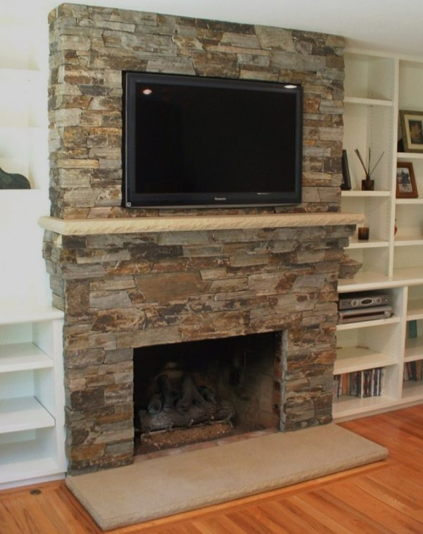 Inspirational Contemporary Stone Fireplace Surround Frame For Clean Medium