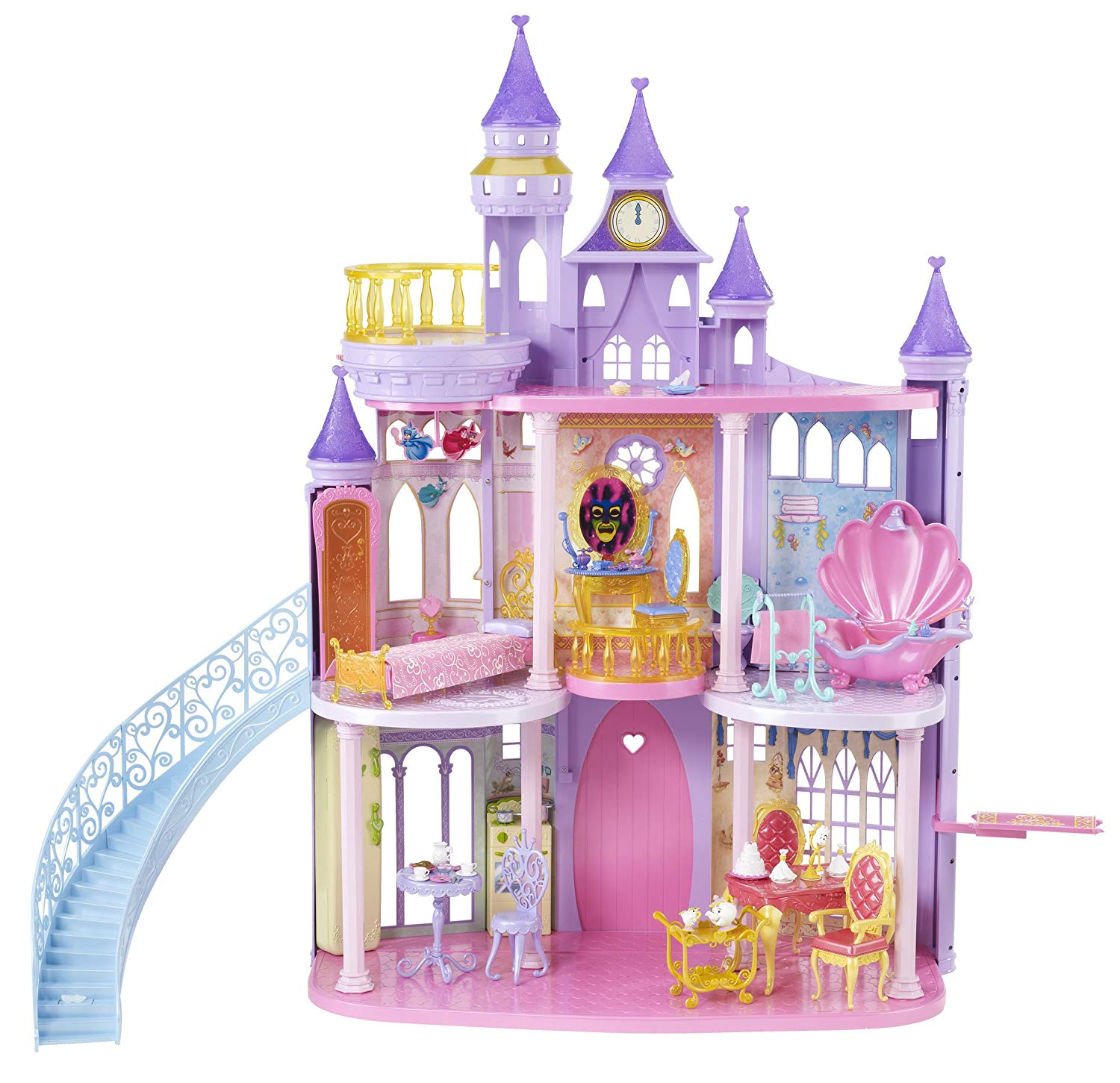 inspirational disney princess castle dollhouse  fel7com