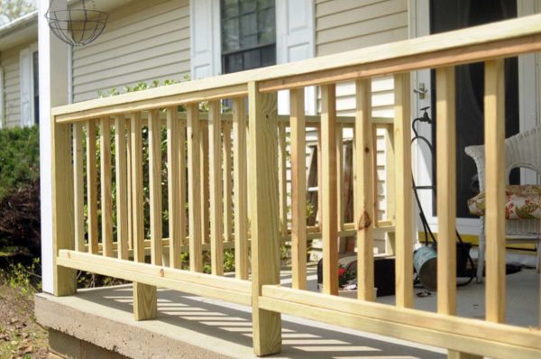 Inspirational How To Build Porch Railing Woodenhome Interior   Exterior Medium