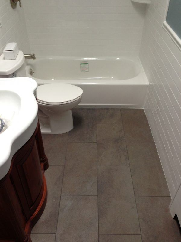 Inspirational Large Tile   Small Bathroom  Tiling Contractor Talk