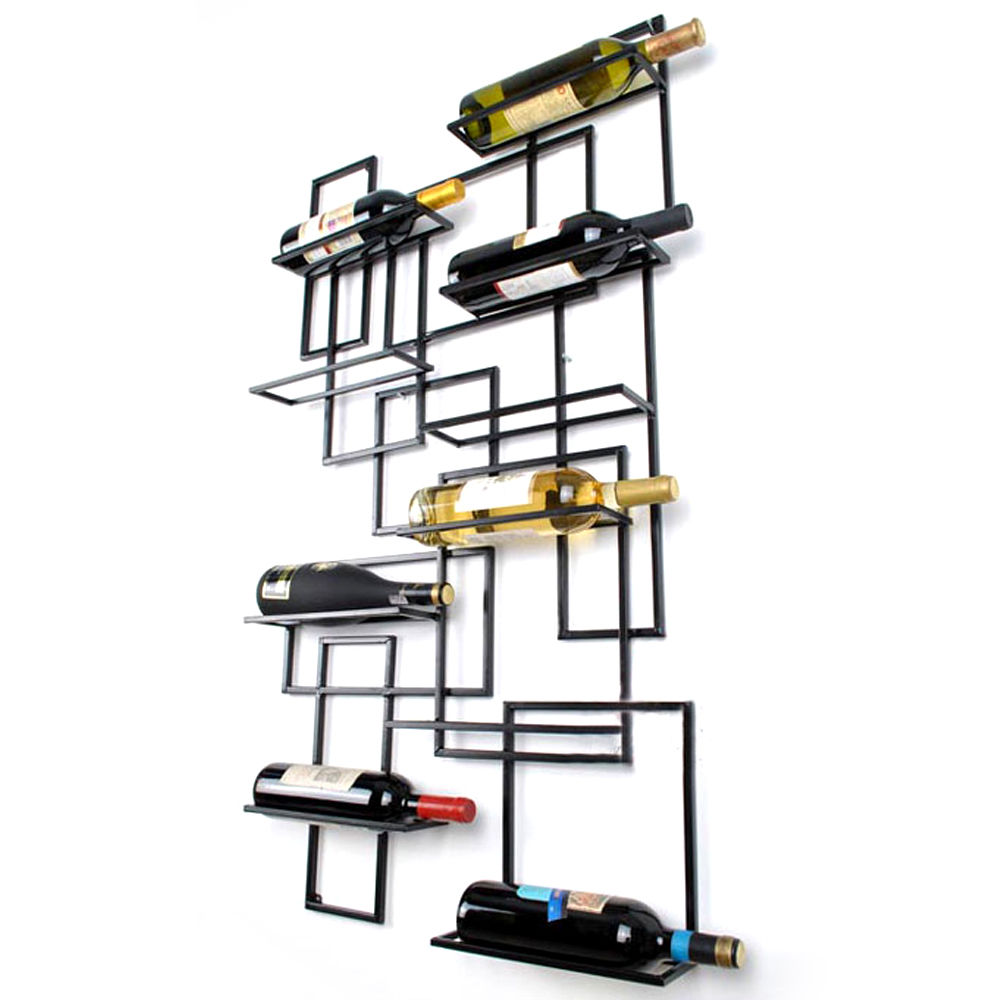 inspirational new wall mount wine racks metal bottle holder storage home