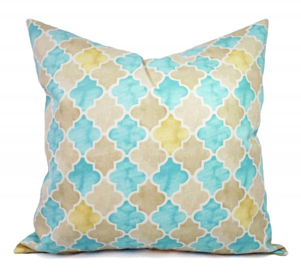 Inspirational Pillows Two Blue And Yellow Pillow Covers By Castawaycovedecor Medium
