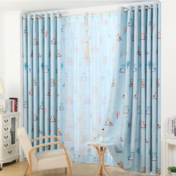 Inspirational Popular Lovely Owl Custom Curtain For Boys And Girls Green Medium