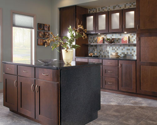Inspirational Schuler Cabinet Gallery Traditional Kitchen Chicago Medium