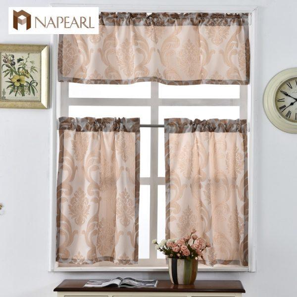 Inspirational Short Kitchen Curtains Shade Window Treatments Modern Door Medium