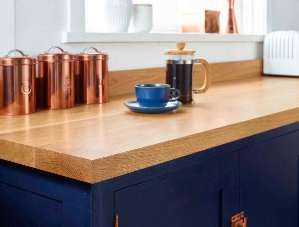 Inspirational Solid Oak Floating Breakfast Bar Worktop Shelf American Medium