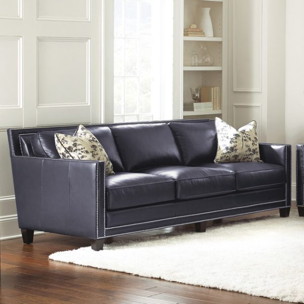 Inspirational Steve Silver Hendrix Sofa W 2 Accent Pillows In Navy Blue Medium