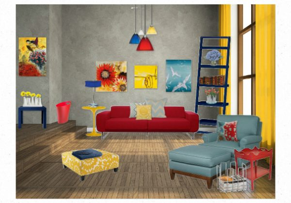 Inspirational Triadic Primary Color Scheme Room By Pastelstarfishies Medium