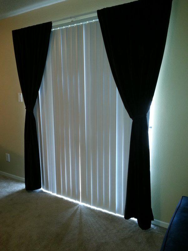 Inspirational Vertical Blinds And Curtains Togetherhome Design Ideas Medium