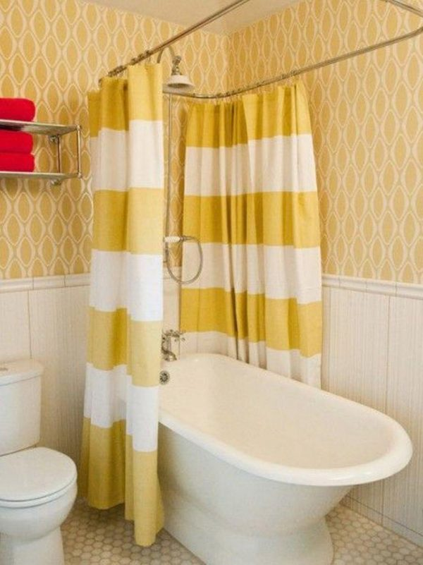 Looking 10 Yellow Shower Curtain Designs Rilane Medium