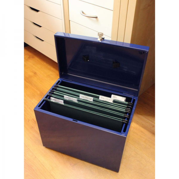 Looking A4 Metal File Box Cathedral A4 Metal File Storage Box Blue Medium