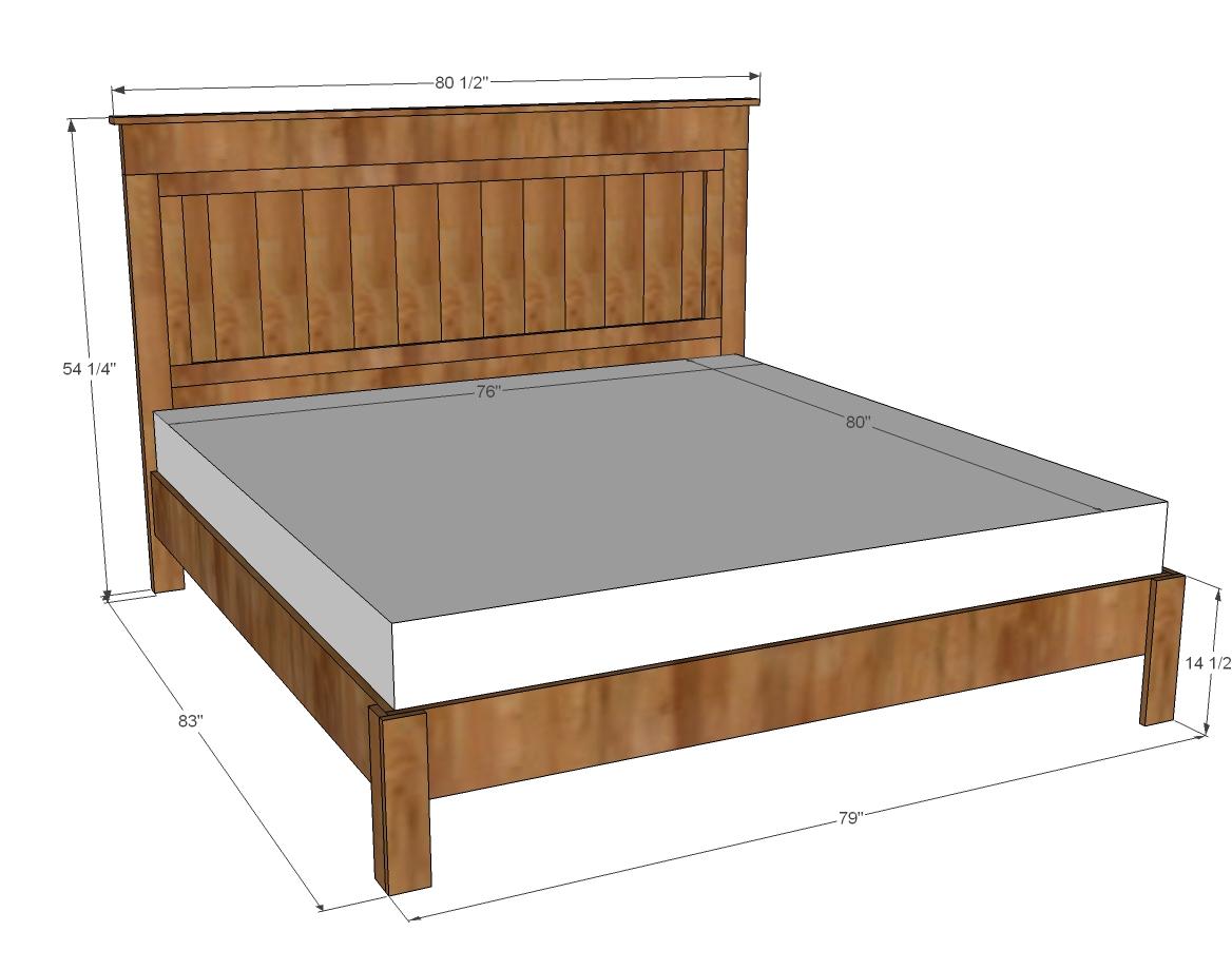 looking ana whiteking size fancy farmhouse bed diy projects