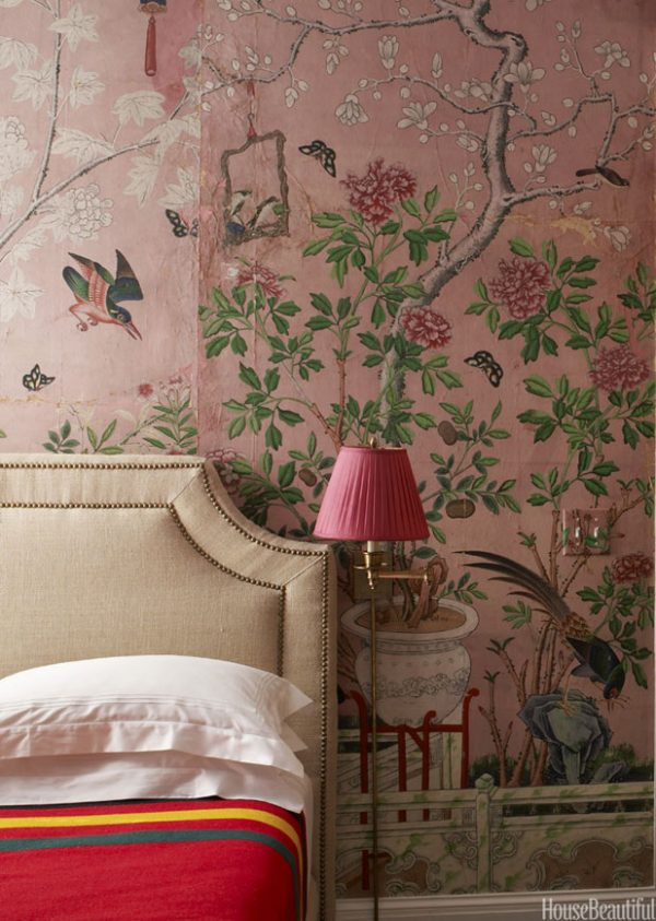 Looking Chinoiserie Wallpaper Handpainted Wallpaper Medium