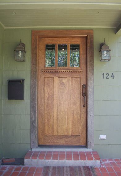 looking craftsman wood door gallery  the front door company medium