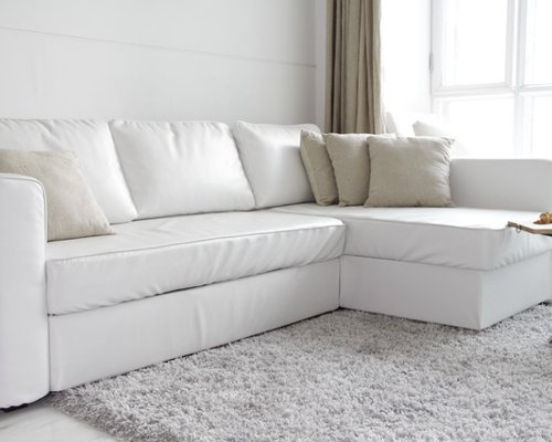 Looking Custom Leather Sofa Bed Slipcover Ikea Manstad Medium