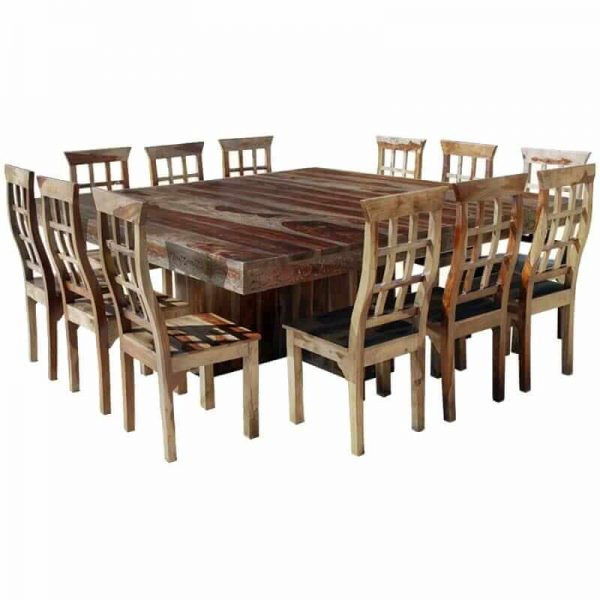 Looking Dallas Ranch Large Square Dining Room Table And Chair Set Medium