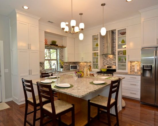 Looking Eat In Kitchen Table Designstraditional Kitchen With Medium