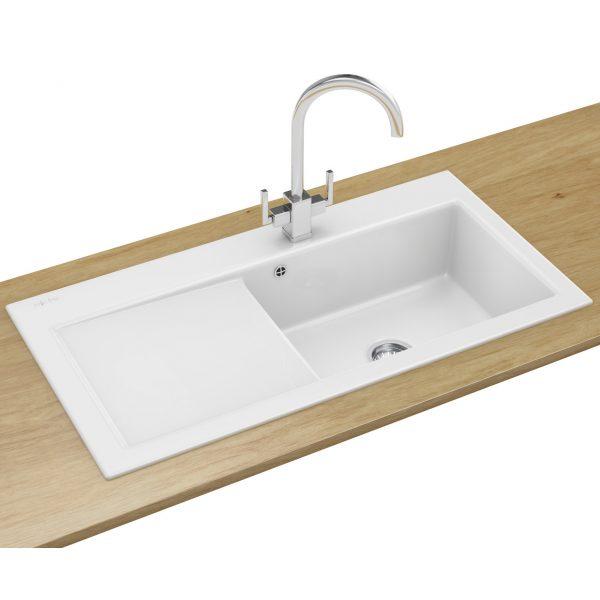 Looking Franke Mythos Designer Pack Mtk 611 Ceramic White Sink And Medium