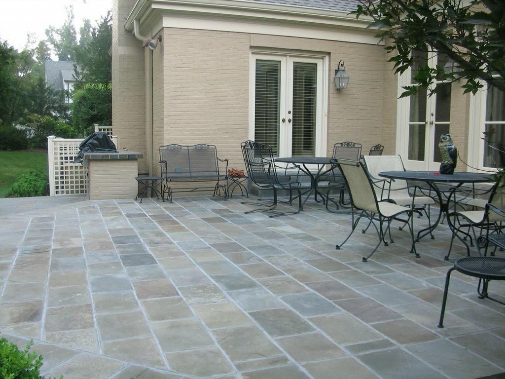 looking inexpensive outdoor flooring ideas diy interlocking slate