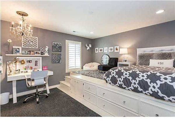 Looking Innovative Bedroom Ideas For Teenage Girls Black And White Medium