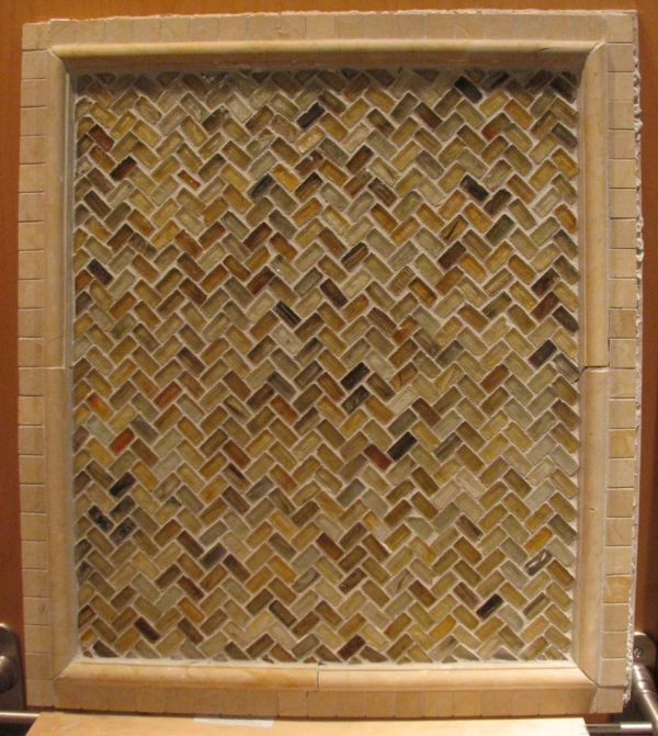 Looking Interior Contempo Brown Herringbone Tile Layout Design Medium