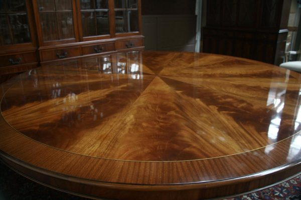 Looking Large Oversized Round Dining Table Large Round Mahogany Medium