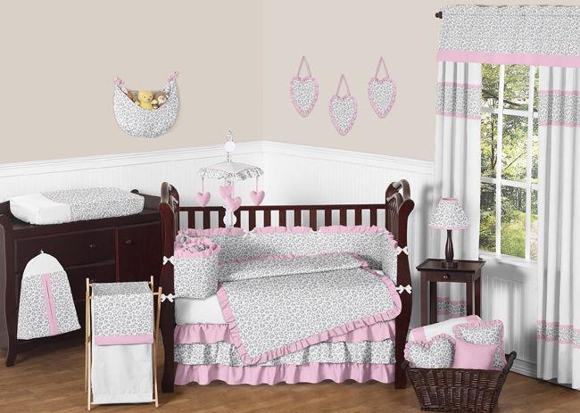 looking pink and grey sweet jojo designs cheetah animal print baby
