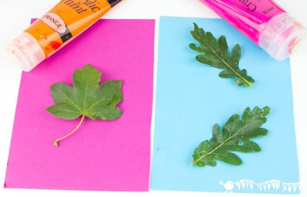 Looking Pop Art Leaf Printing Kids Craft Room Medium