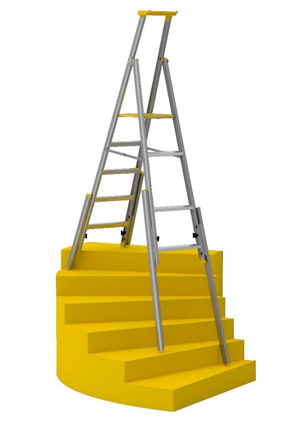Looking Stairwell Ladder 77s  Wibe Ladders Medium
