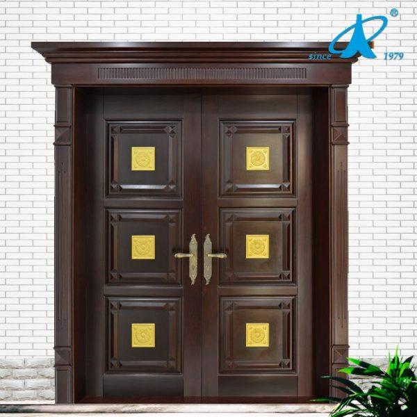 Main Door Teak Wood Double Front Door Design Photo Medium