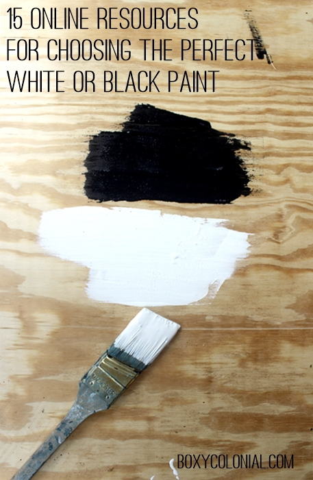 Our Favorite 15 Resources For Choosing White And Black Paint Colors Medium
