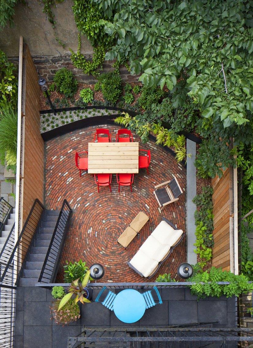 our favorite 20 charming brick patio designs
