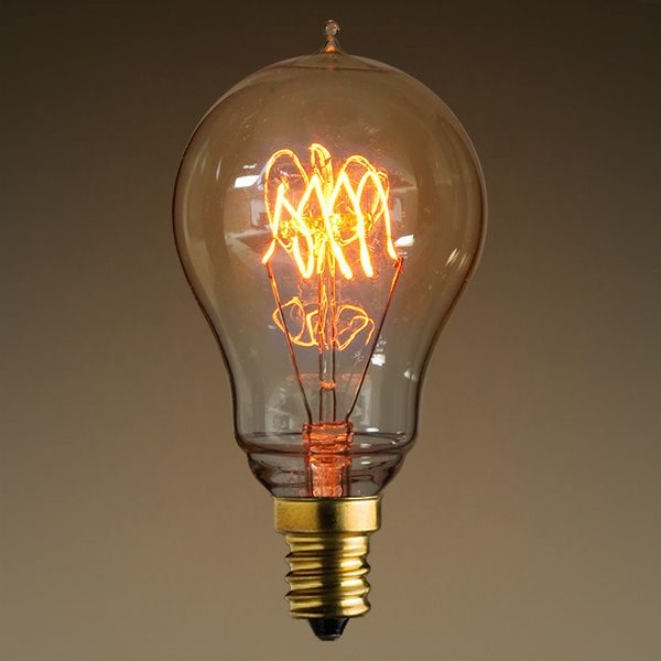 Our Favorite 25w Antique Edison Light Bulb 3 Loop Tungsten Filament Medium