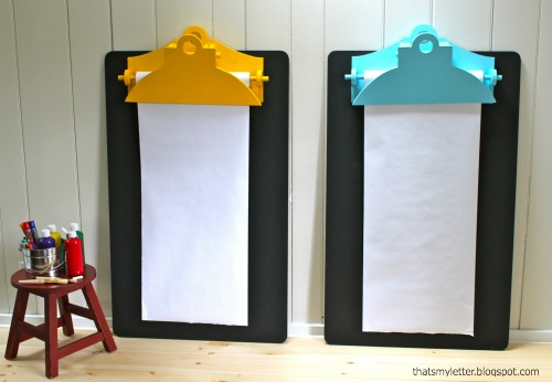 our favorite ana whitegiant clipboard wall easel chalkboard diy