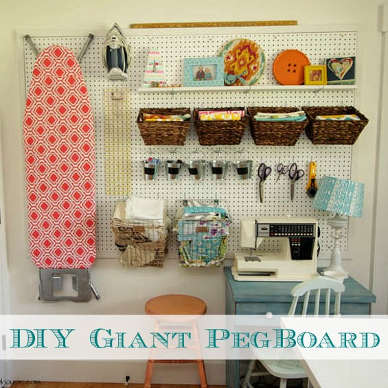 Our Favorite How To Install A Diy Giant Pegboard Wall Craft Room Medium