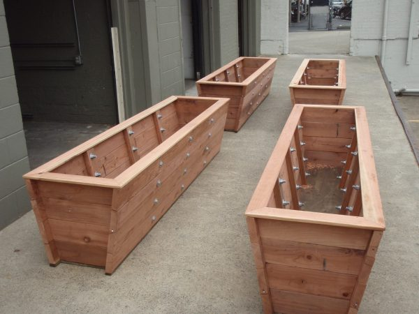 Our Favorite Large Redwood Planter Boxes Made For Tall Bambootrick Medium