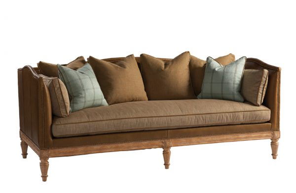 Our Favorite Lillian August Sofas Leather Tuxedo Belvedere Sofa By Medium