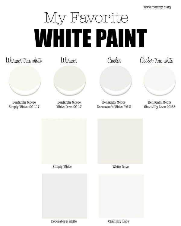 Our Favorite My Favorite White Paint For Walls Part 1  Benjamin Moore Medium