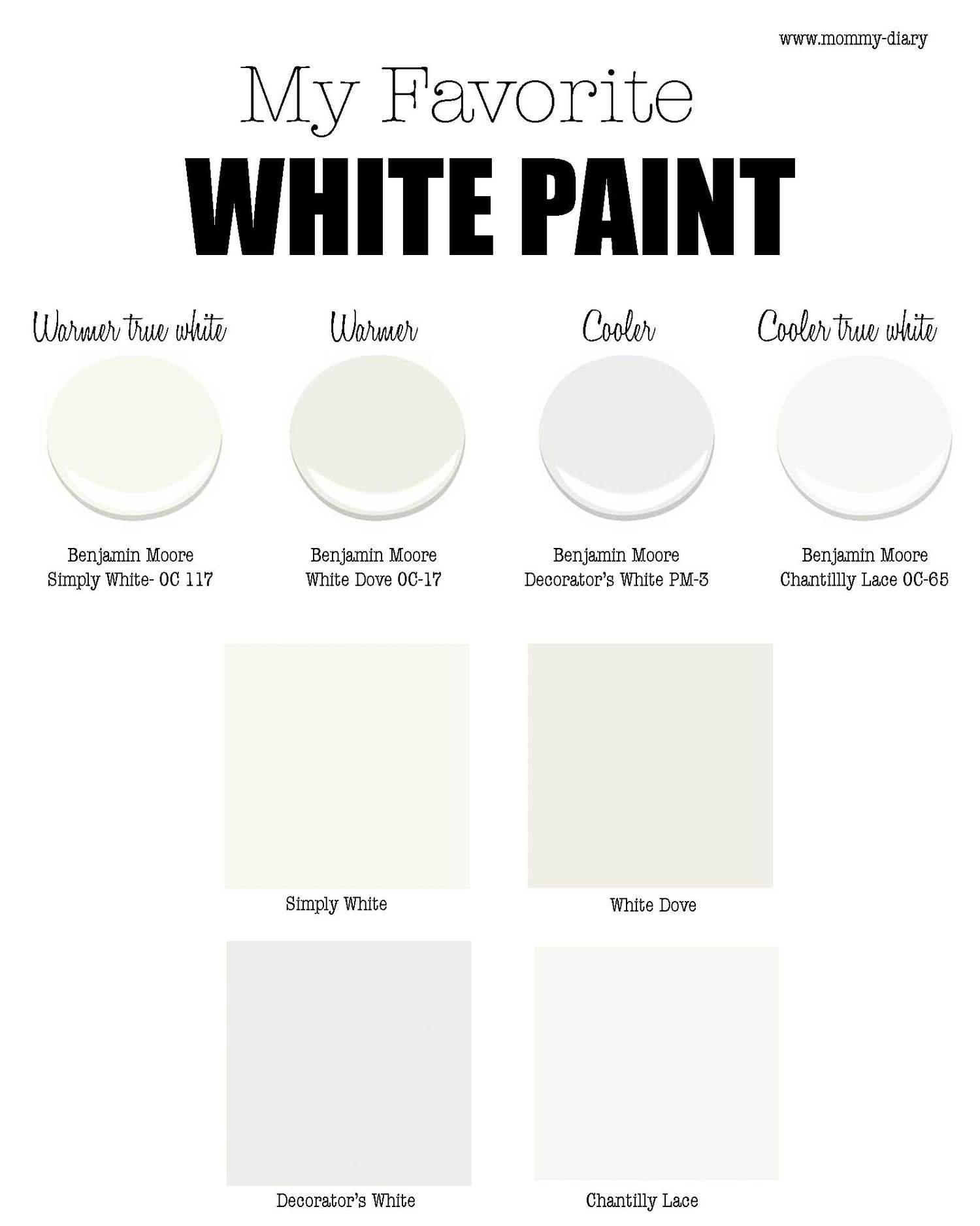 our favorite my favorite white paint for walls part 1  benjamin moore