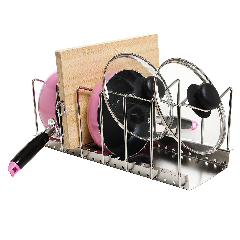 our favorite pan pot lid rack holder kitchen new organizer storage