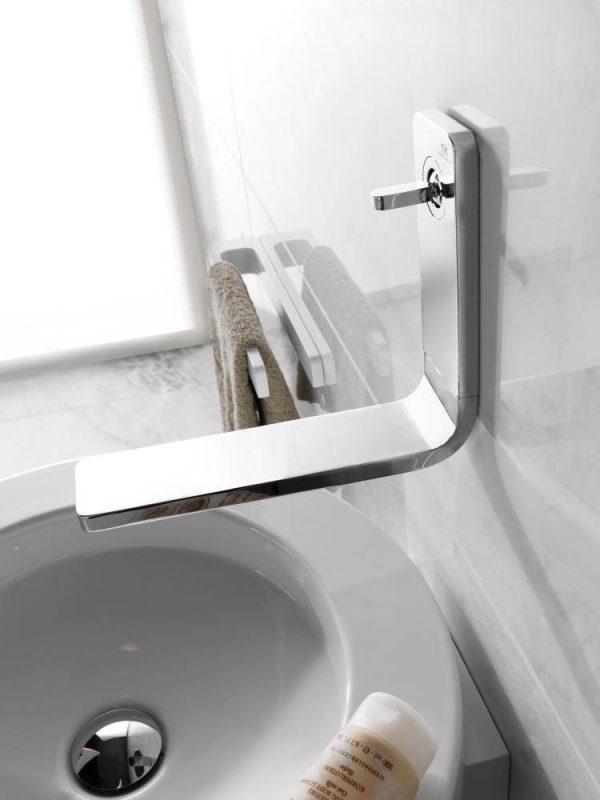 Our Favorite Porcelanosa Noken Lounge Wall Mounted Chrome Basin Mixer Tap Medium