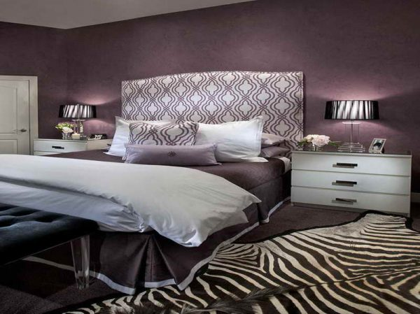 Our Favorite Purple Black And White Bedroom Ideas With Zebra Style Medium