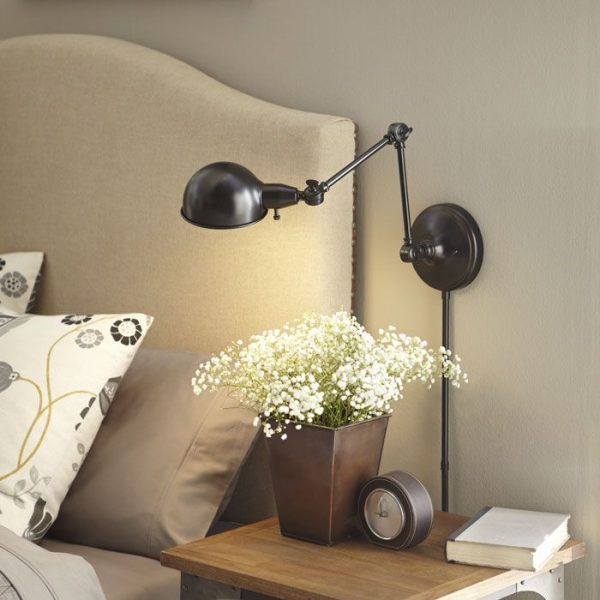 Our Favorite Reading Lamps For Bedroom With Wall Mounted Mount Swing Medium