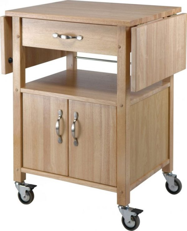Our Favorite Rolling Kitchen Cart With Drop Leaf Woodworking Projects Medium