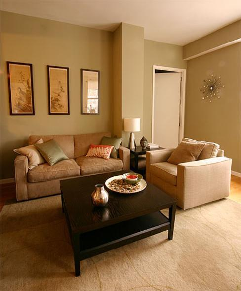 Our Favorite Sage Green And Brown Living Room Medium