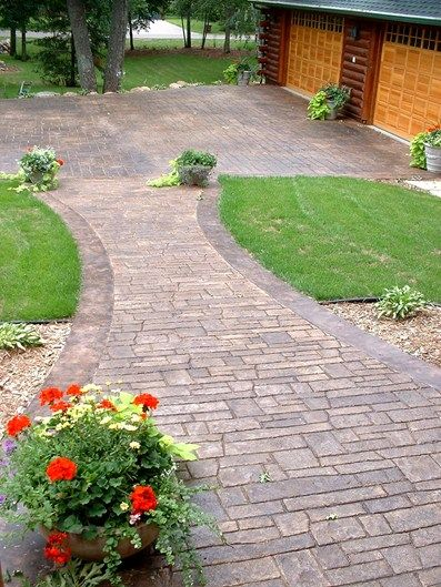 Our Favorite Stamped Concrete Walkway Ideas Aesthetic Addition To A Medium