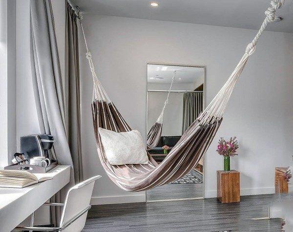 Our Favorite Top 40 Best Indoor Hammock Ideas  Cozy Hanging Spots Medium