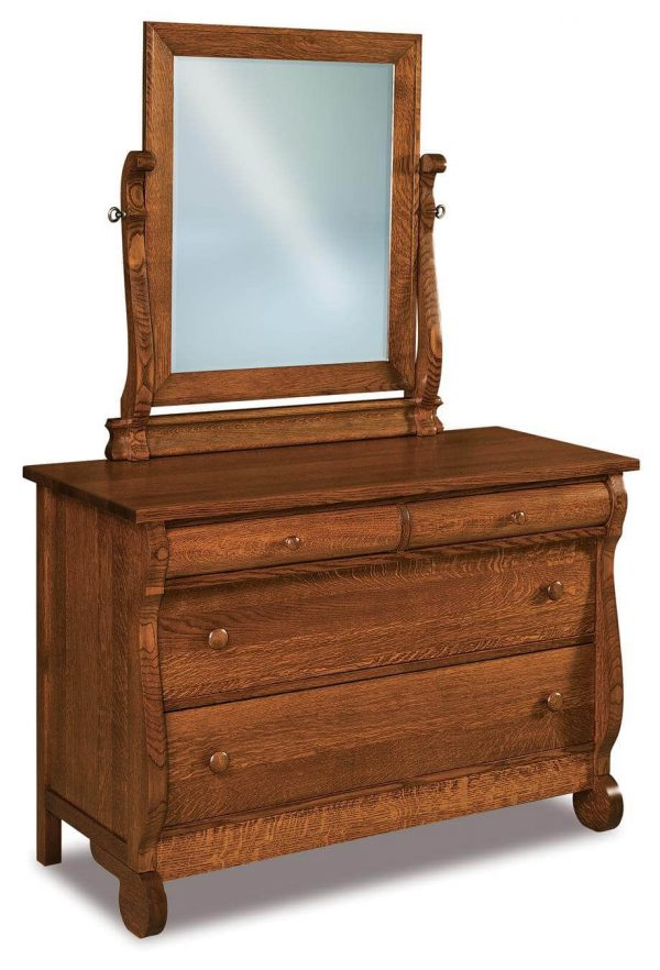 Our Favorite Victoria Sleigh Small Mirror Dresser Countryside Amish Medium