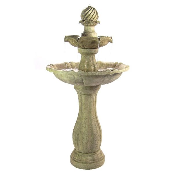 Our Favorite Water Fountain Solar Powered 2 Levels Tiered Outdoor Medium