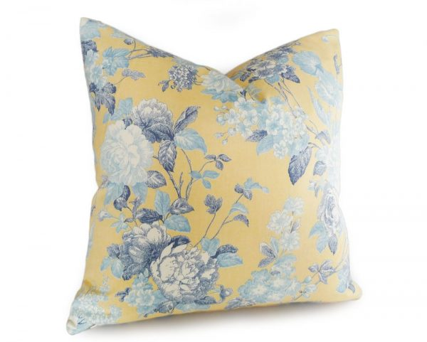 Our favorite Yellow And Blue Throw Pillowsyellow Floral Pillows Shabby